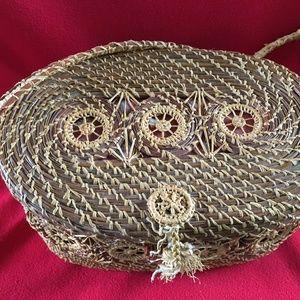 Handbags - Vintage Pine Needle Basket Purse